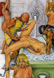 I want her to be dripping cum from all her holes - Slaves of Troy by Tim Richards